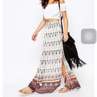 BN New Look Border Maxi Skirt