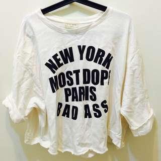 ❗️便宜賣❗️字母 七分袖 白T 上衣