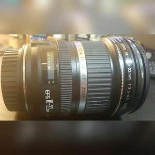 Canon EFS 10-22mm Lens