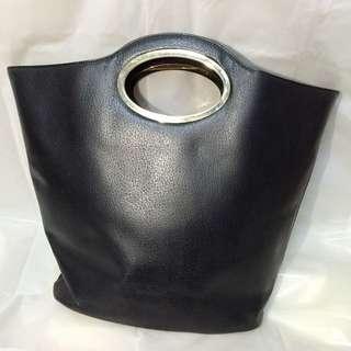 有名字復古黑色手提包