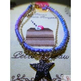 【首戀♥】藍紫色漸層 星星小鑽手鍊