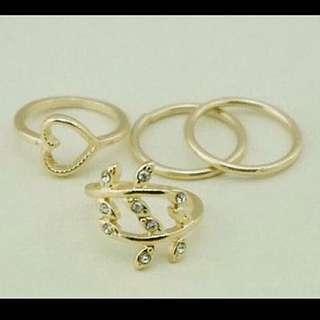 🌹實品含運。四件套戒指組