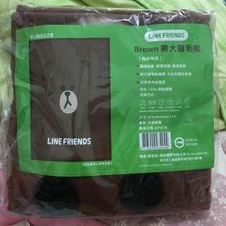 LINE 熊大刷毛毯