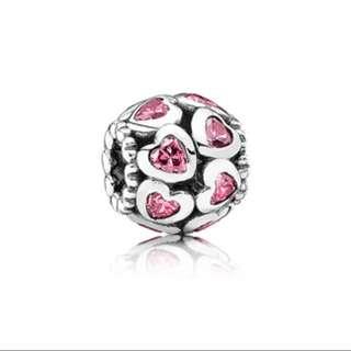 INSTOCKS: Pandora Fancy Pink Openwork Love Bonds