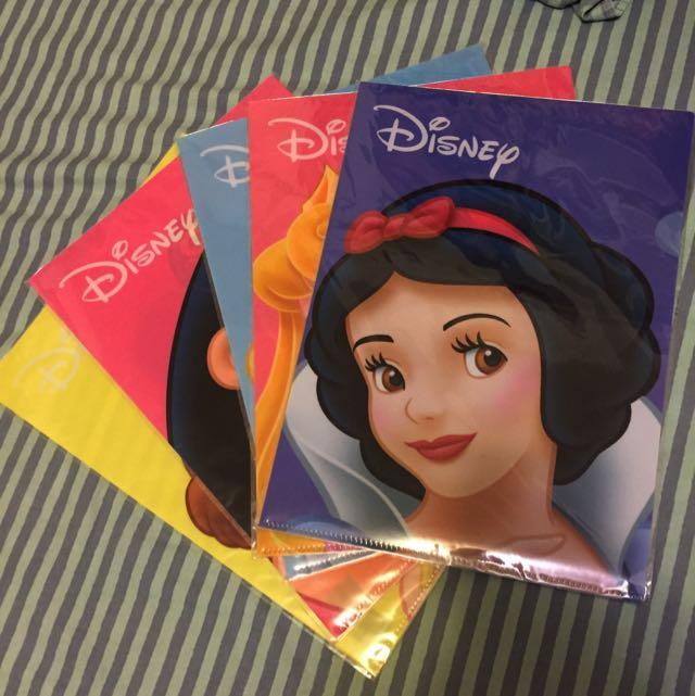 正版迪士尼公主 資料夾