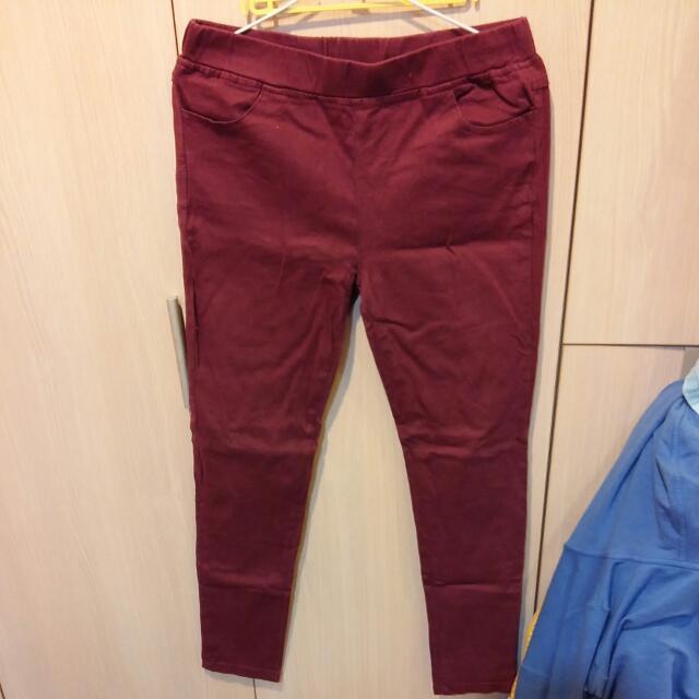 棗紅色褲子 內搭外穿皆可