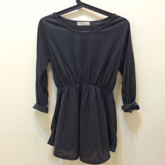 ❗️便宜賣❗️灰色 長袖 連身裙