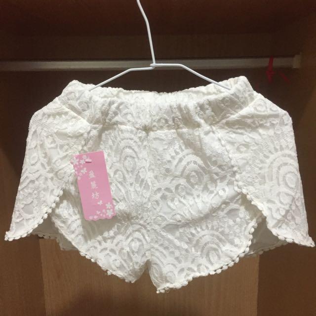 👯全新。蕾絲 短褲 安全褲