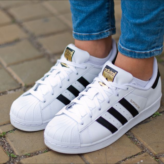 Adidas Originals Superstar 黑白金標限定