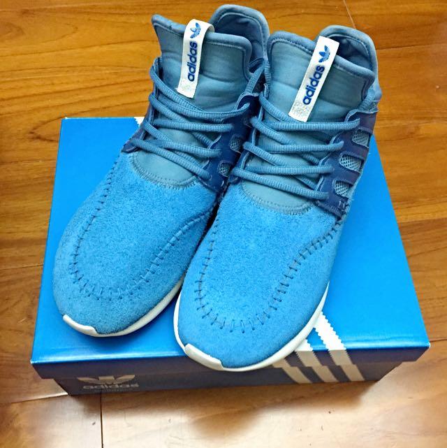 Adidas Tubular Moc Runner 藍色 麂皮 平民版Y-3