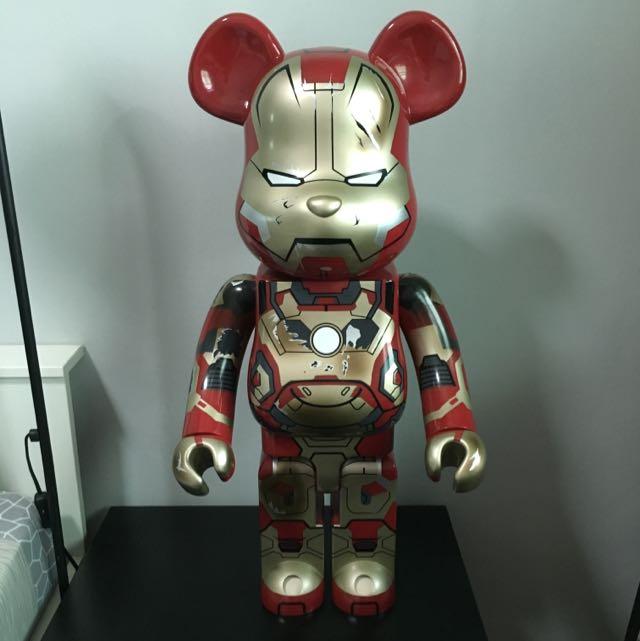 Bearbrick Iron Man Mark 42 Damage Ver 1000 Toys Games On Carousell