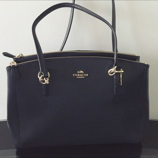 PO  BN Authentic Coach Christie Carryall In Crossgrain Leather ... a6b15df4c7dc8