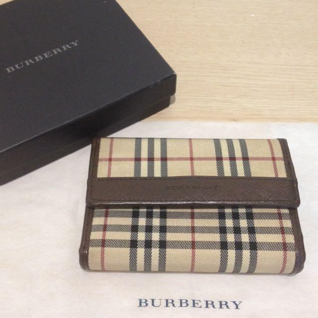 [週末降價]Burberry 短夾