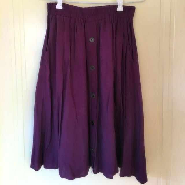 EVIL TWIN Purple Skirt