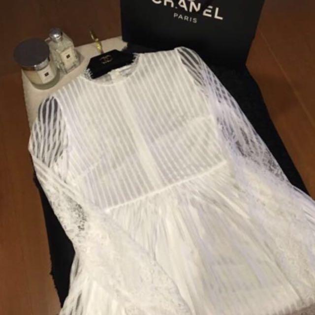 FW蕾絲氣質連身長裙