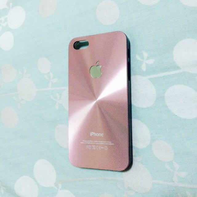 i5/i5s雷射金屬粉紅手機殼