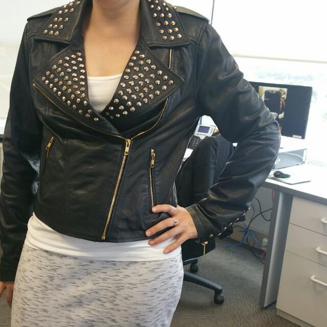 Real Leather Jacket Hardly Worn