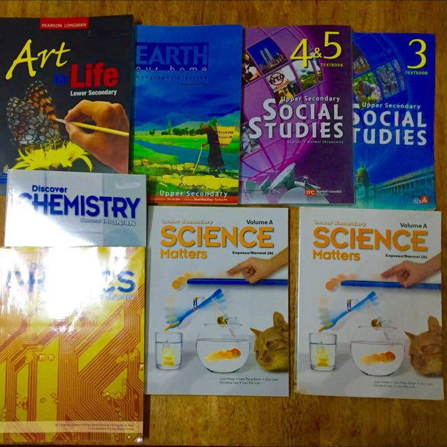 Chemistry And Physics Text Books For Lower And Upper Secondary (USED)