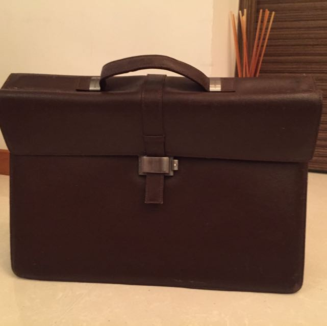3a6a0143f8ce Vintage Montblanc Leather Dark Brown Briefcase, Men's Fashion on ...
