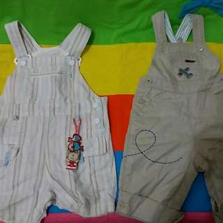 Why And 1/2 吊帶褲(70公分)+Baby Gap