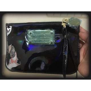泰國 雷射系列 POSH包 皮夾 錢包 零錢包 隨身包 深藍黑