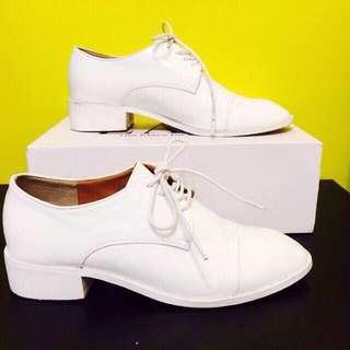 正韓白色牛津鞋👟