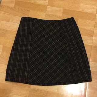 格子 窄裙 包臀裙