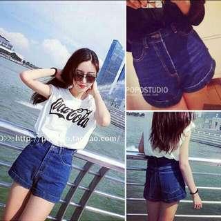 Korean Style Denim Jeans Casual Shorts  INSTOCK