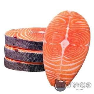 鮭魚仿真寫實抱枕坐墊