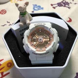 BabyG白玫瑰金錶