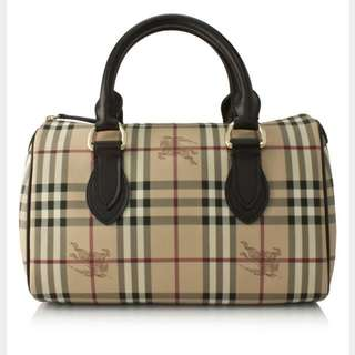 Burberry Haymarket Chester Small Bowling Bag (Received As A Gift. Almost New. Rarely Used)