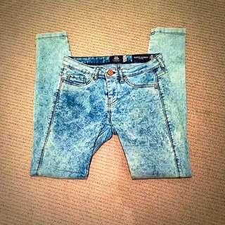 Bershka Skinny Acid Wash Jeans
