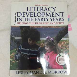 Literacy Development In The Early Years Textbook