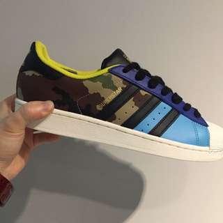 Adidas Superstar 金標 迷彩 陳奕迅 男段