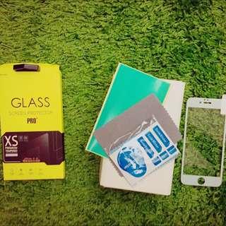 💕全新💕I6(4.7)滿版玻璃貼膜 白色