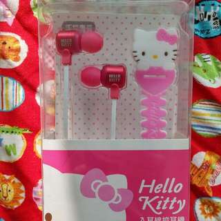 Hello kitty入耳線控耳機