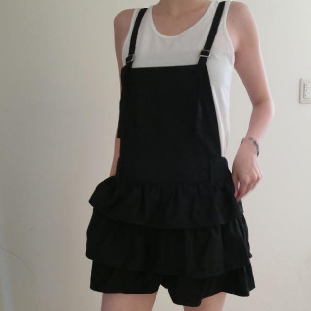 +-*/可愛吊帶褲裙