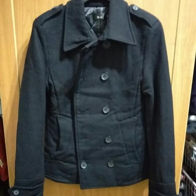 雙排扣舖棉外套