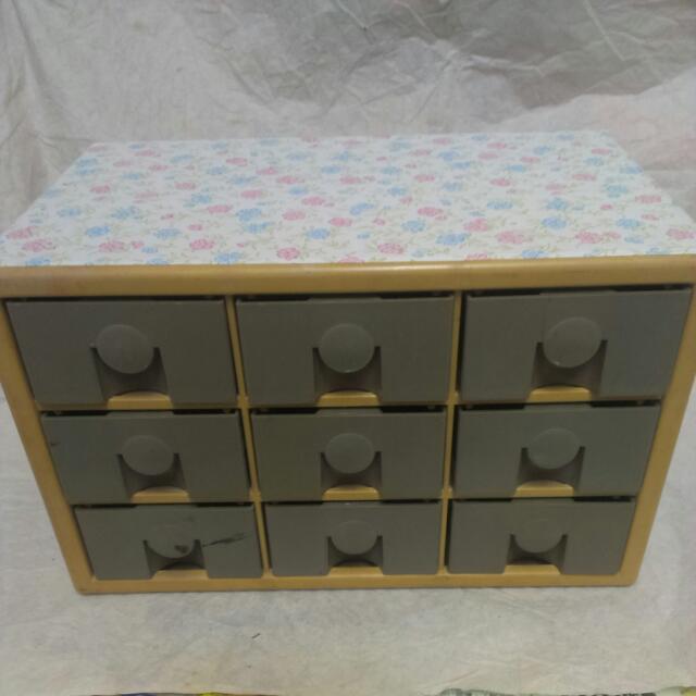 碎花 9格置物櫃 抽屜櫃 收納櫃 適合收納珠珠 玩具 公仔 零件…等