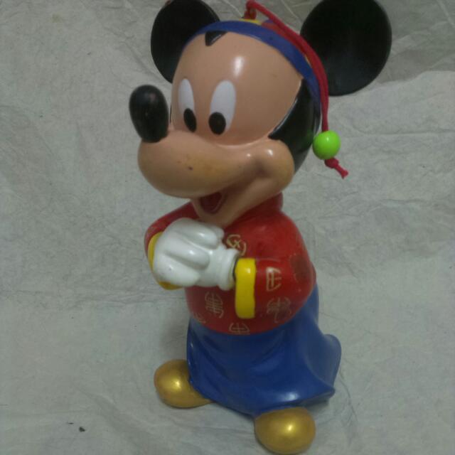 迪士尼 Disney 經典款 中國風 米奇 拜年 大型 存錢筒 儲金箱 撲滿