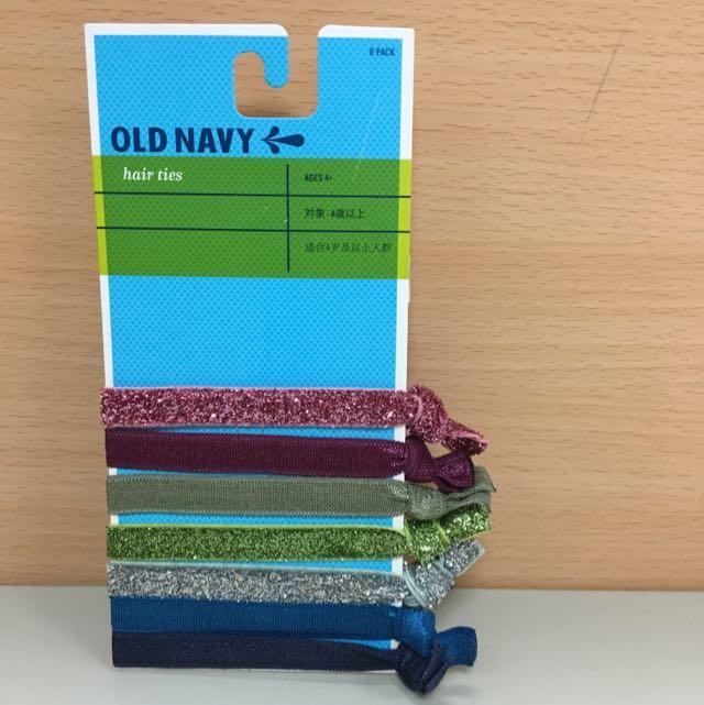 日本帶回/ Old Navy 八件組髮圈 已拆過(少一條)