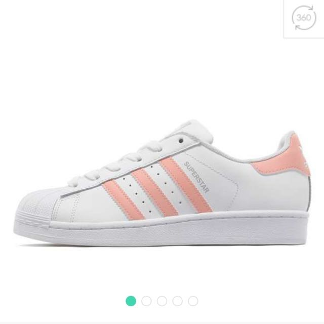 Pera gusto músculo  Adidas Originals Superstar Baby Pink, Women's Fashion on Carousell