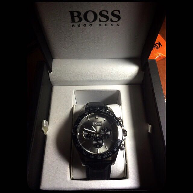Boss三眼時尚腕錶