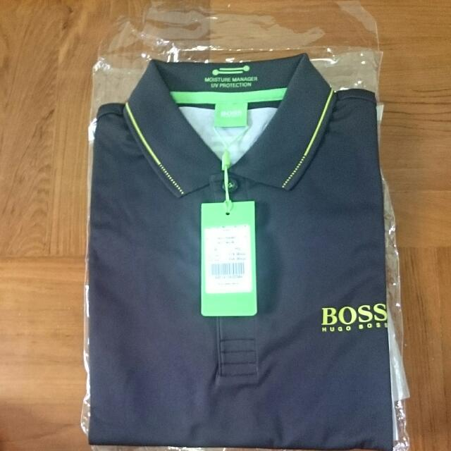 8e2d46ce9 Authentic Brand New Hugo Boss Polo Tee With Moisture Manager And UV  Protection, Men's Fashion on Carousell