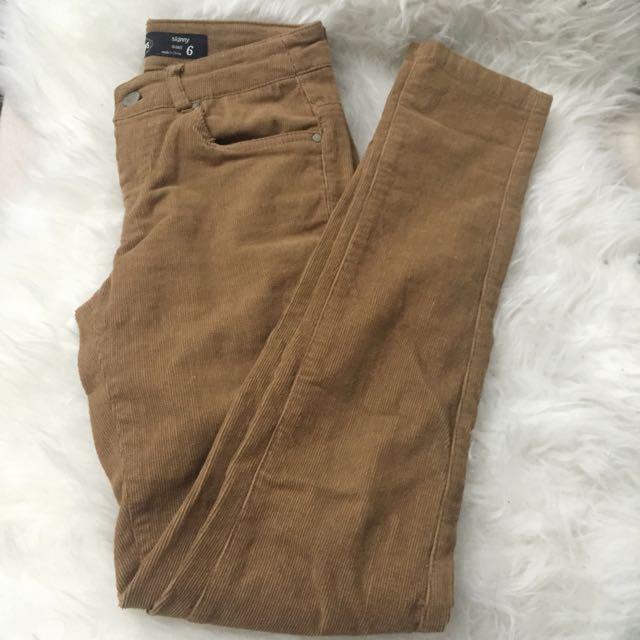 Caramel Corduroy Pants