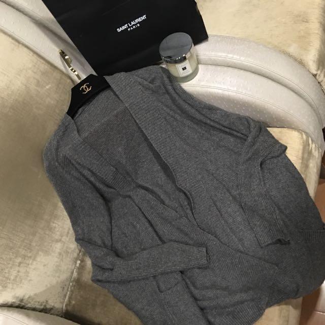 FW口袋寬鬆針織罩衫