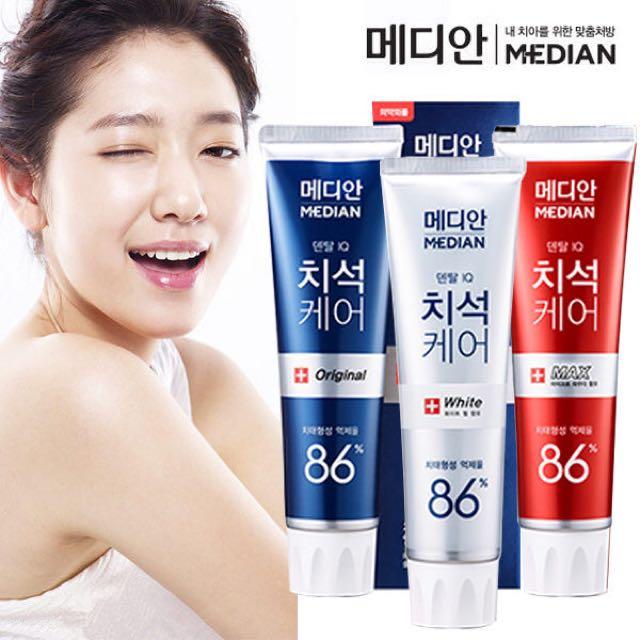 韓國MEDIAN 86% 強效去牙垢牙膏(現貨