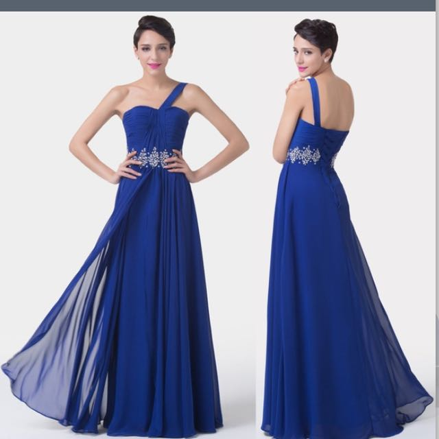 Midnight Blue Prom Dress Womens Fashion On Carousell