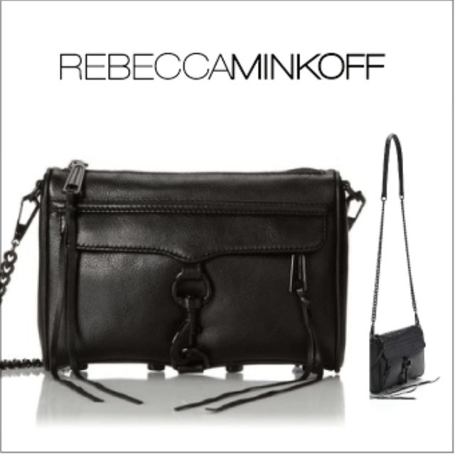 全新真品Rebecca Minkoff  Mini Mac Bag 黑色 黑鏈 牛皮 美國購回