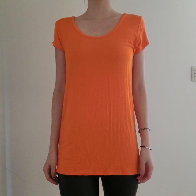 SLY素色橘T袖(含運)